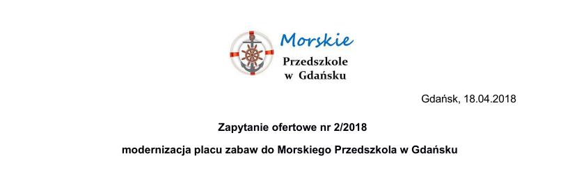 Zapytanie ofertowe nr 2/2018