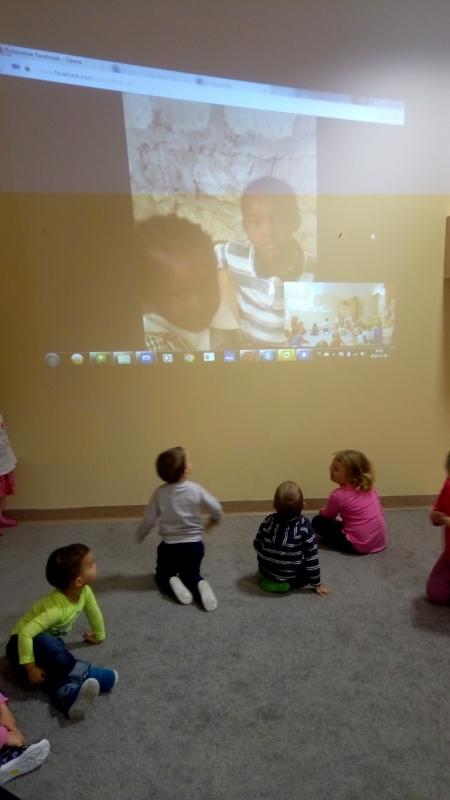 Nawiązanie kontaktu online z przedszkolem z Kenii